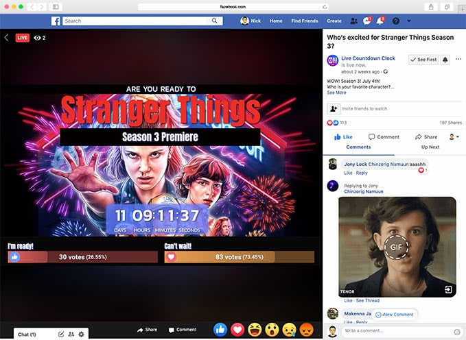 Interactive Facebook live video | LiveReacting